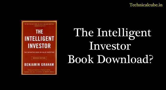 The Intelligent Investor Pdf in Hindi Book