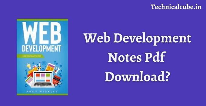 Web Development Notes Pdf Download