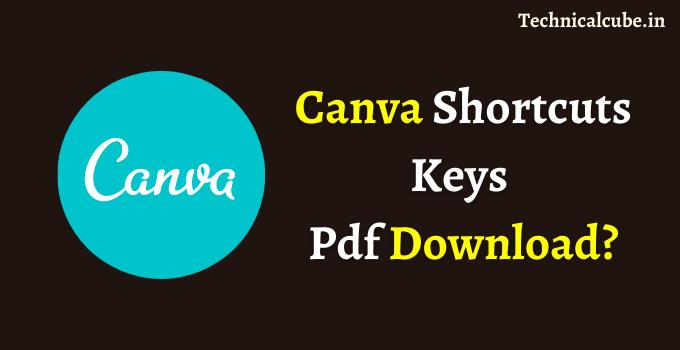 Canva Shortcut Keys Download