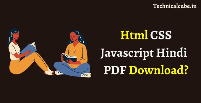 Html CSS Javascript pdf download