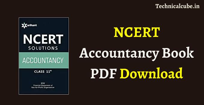NCERT Accountancy Book PDF Download