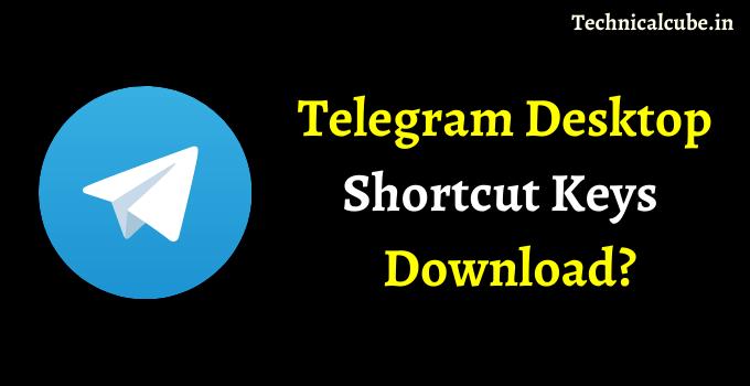Telegram Desktop Shortcut Keys PDF